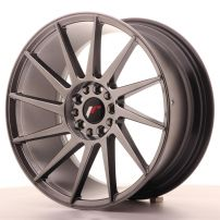 Cerchio lega Japan Racing  JR22 18x8,5 ET35 5x100/120 Hyper Black Antracite scuro
